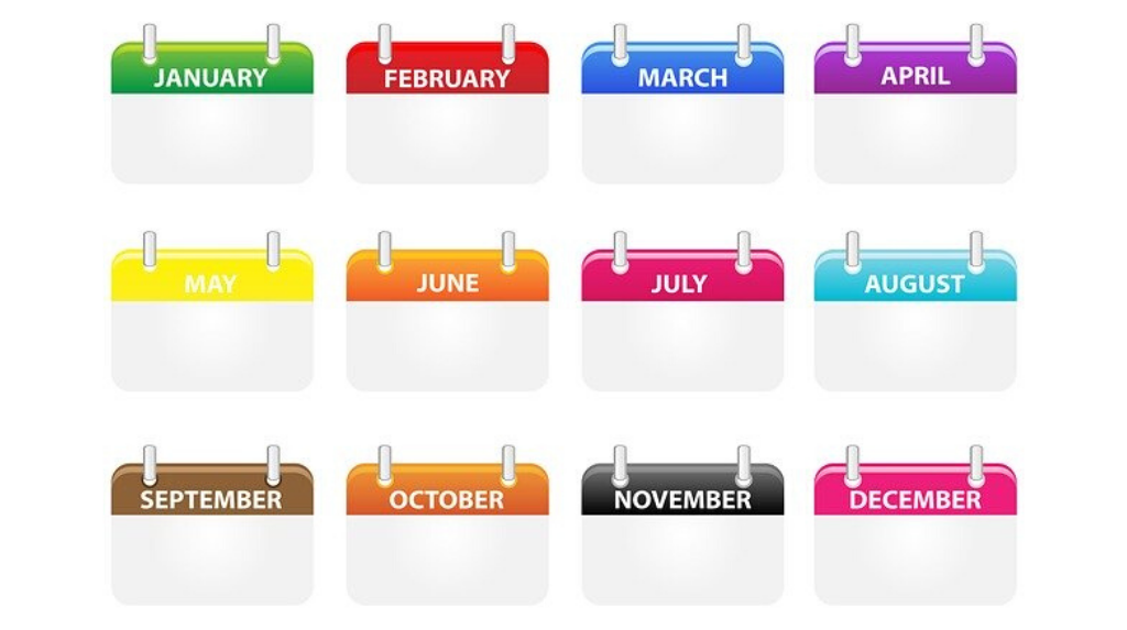 Назви місяців в англійській мові