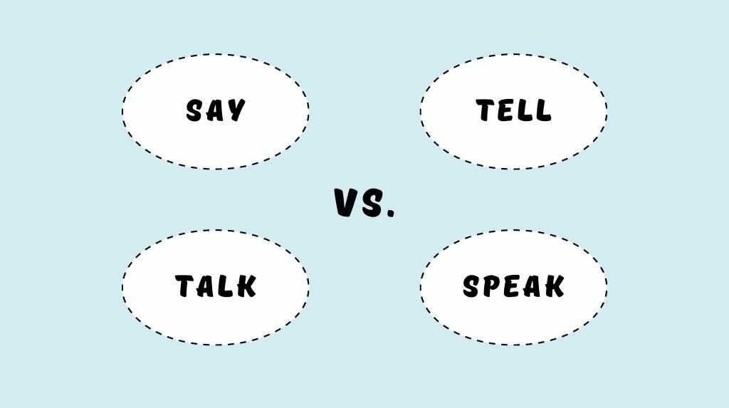 Різниця між say, tell, talk та speak